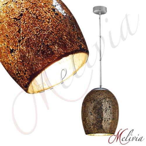 Hängelampe Ø18cm Bronze Mosaik Glas Pendelleuchte Hängeleuchte Deckenlampe Lampe