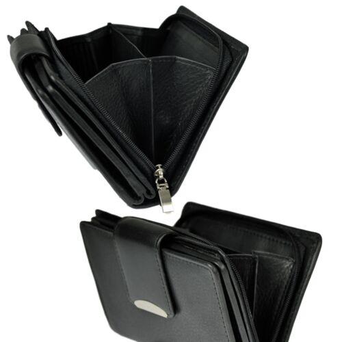 Damen Portemonnaie feines Rindleder Geldbörse Geldbeutel Geldtasche Wallet 403