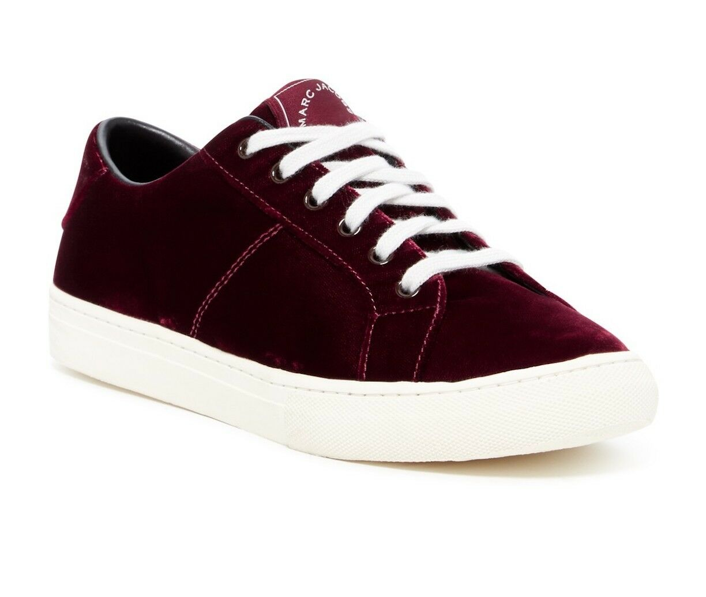 Envíos y devoluciones gratis. Marc JACOBS Zapatos Zapatos Zapatos Tenis Imperio Terciopelo Low Top Tamaño 6 Burdeos Nuevo  a la venta