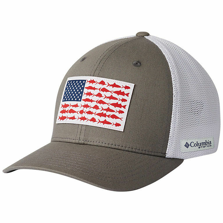 Columbia PFG TUNA Flexfit Fitted Ball Cap Hat in Green L//XL 7-7 3//4 FREE Decal