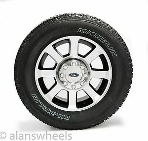 Ford f250 f350 super duty 20 black machined wheels rims michelin image is loading ford f250 f350 super duty 20 034 black sciox Gallery