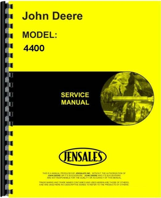 john deere 4400 combine service manual ebay rh ebay com john deere 4400 combine parts manual john deere 4400 combine parts manual