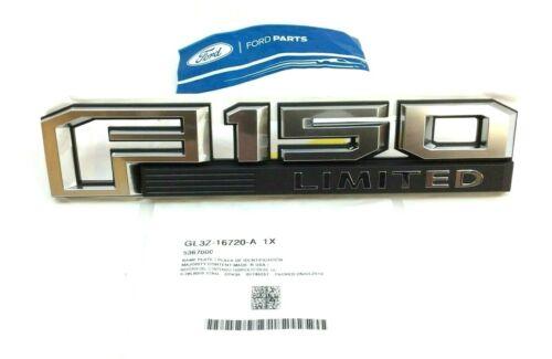 2016-2019 Ford F150 Limited passenger front fender chrome black Nameplate Emblem