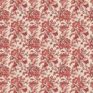 Puppenhaus-Miniatur-Zoepfen-Rot-Blumen-Tapete