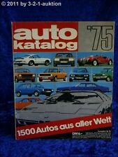 Auto Katalog Autokatalog AMS 1975 Nr. 18