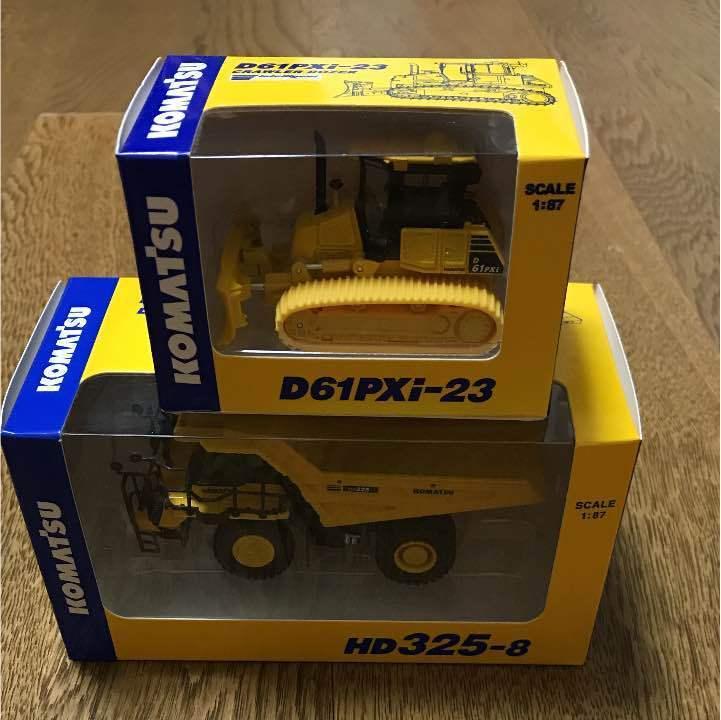 Komatsu 1 87 HD325-8&WA380-8 exavator camión 2 Juego Miniatura F S Japón