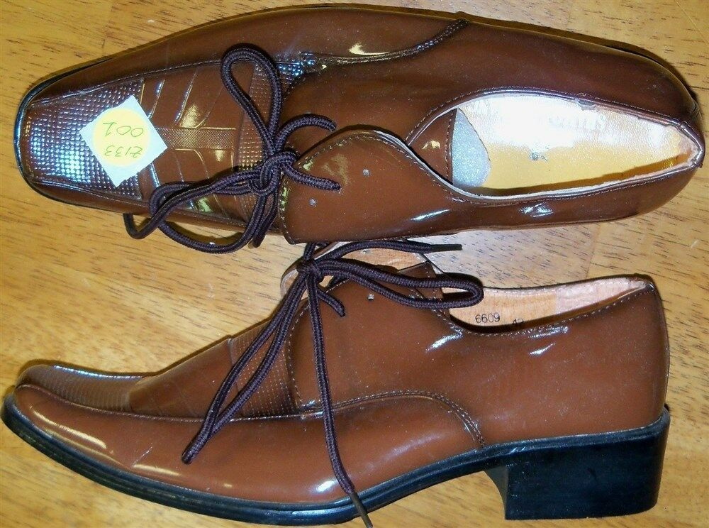 Oxford shoes Brown Leather Dress Shamosihuah Men size 10 D New