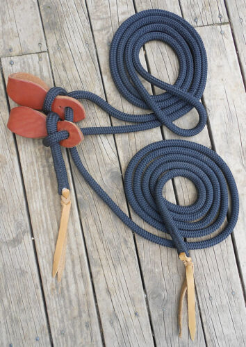 18FT MECATE REIN and HEAVY DUTY SLOBBER STRAPS 17 colours available