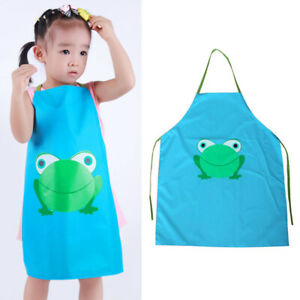 Kids Cooking Painting Apron Cartoon Frog Waterproof For Boys Girls Adjustable Ebay