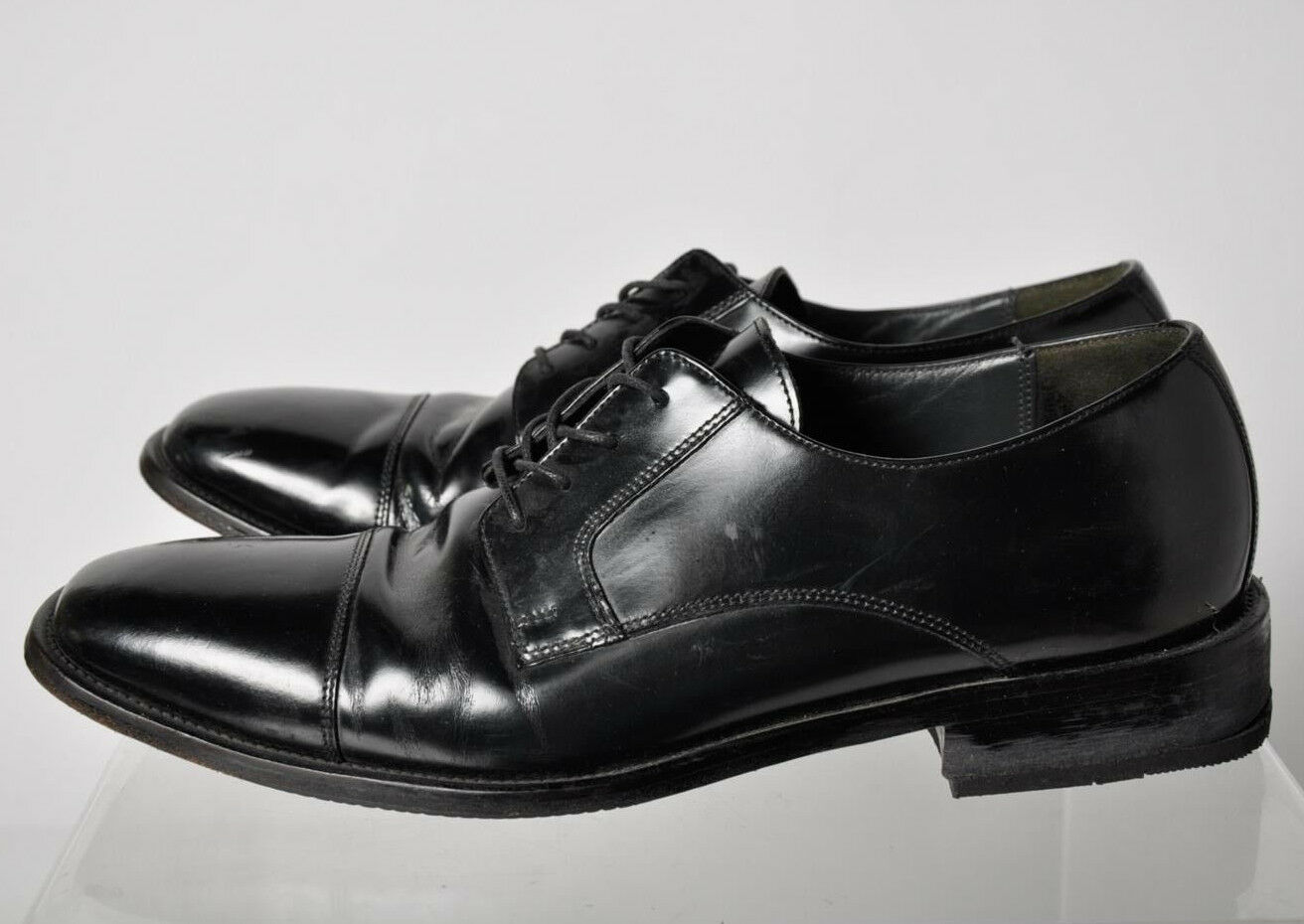 Bostonian Men's Black Leather Cap-Toe Oxford Lace-Up Dress shoes Size 10.5
