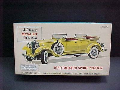 Vintage HUBLEY Cast Metal Model Kit 1930 PACKARD Sport Phaeton #4859 1/22 scale