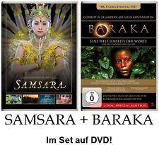 SAMSARA + BARAKA - Ron Fricke - 2 + 1 DVD im Set! NEU + OVP!