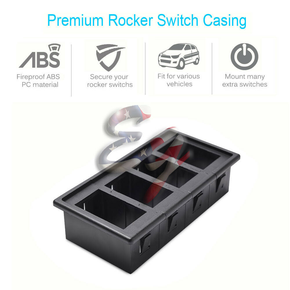 4 Gang Mounting Holder Panel Patrol Hosing Car for Laser Rocker Switch 5pin/&7pin