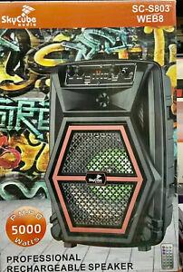 Bluetooth speaker 5000 Watts P.M.P.O Tweeter SkyCube (Remote) Fm/usb/Aux