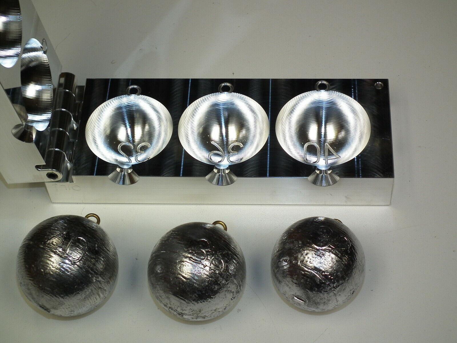 Saltwater Cannonball Sinker mold 32,36,40oz CNC Aluminum Fishing