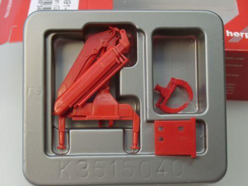 1//87 051491-002 rojo Herpa accesorios camión-HIAB ladekran con agarrador