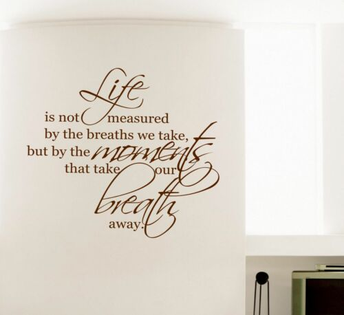Life Moments  MURAL WALL ART STICKER DECAL QUOTE Wall Decals /& Stickers