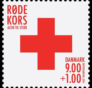 Denemarken-2014-Rode-kruis-Red-Cross-postfris-mnh