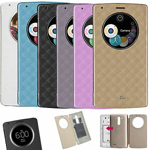 Etui-S-View-Cover-LG-G4-Smart-Circle-QI-Chargeur-Puce-Film-Port-48h-offert