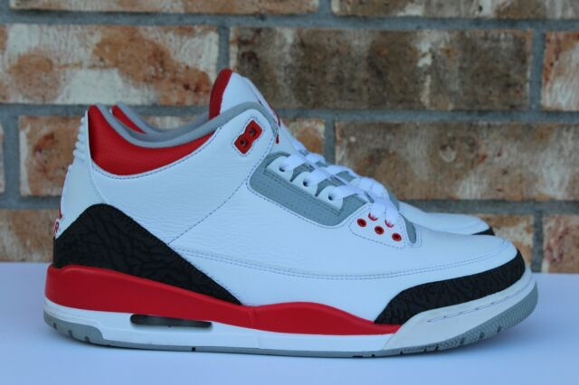 super popular e07d7 cb7ac 2013 Nike Air Jordan 3 Retro Sz 12 White Fire Red Silver Black 136064 120