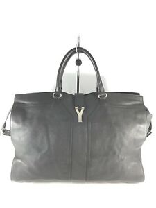 3417ee5e35d YSL Yves Saint Laurent Black Leather Duffle Bag Travel Bag Made in ...