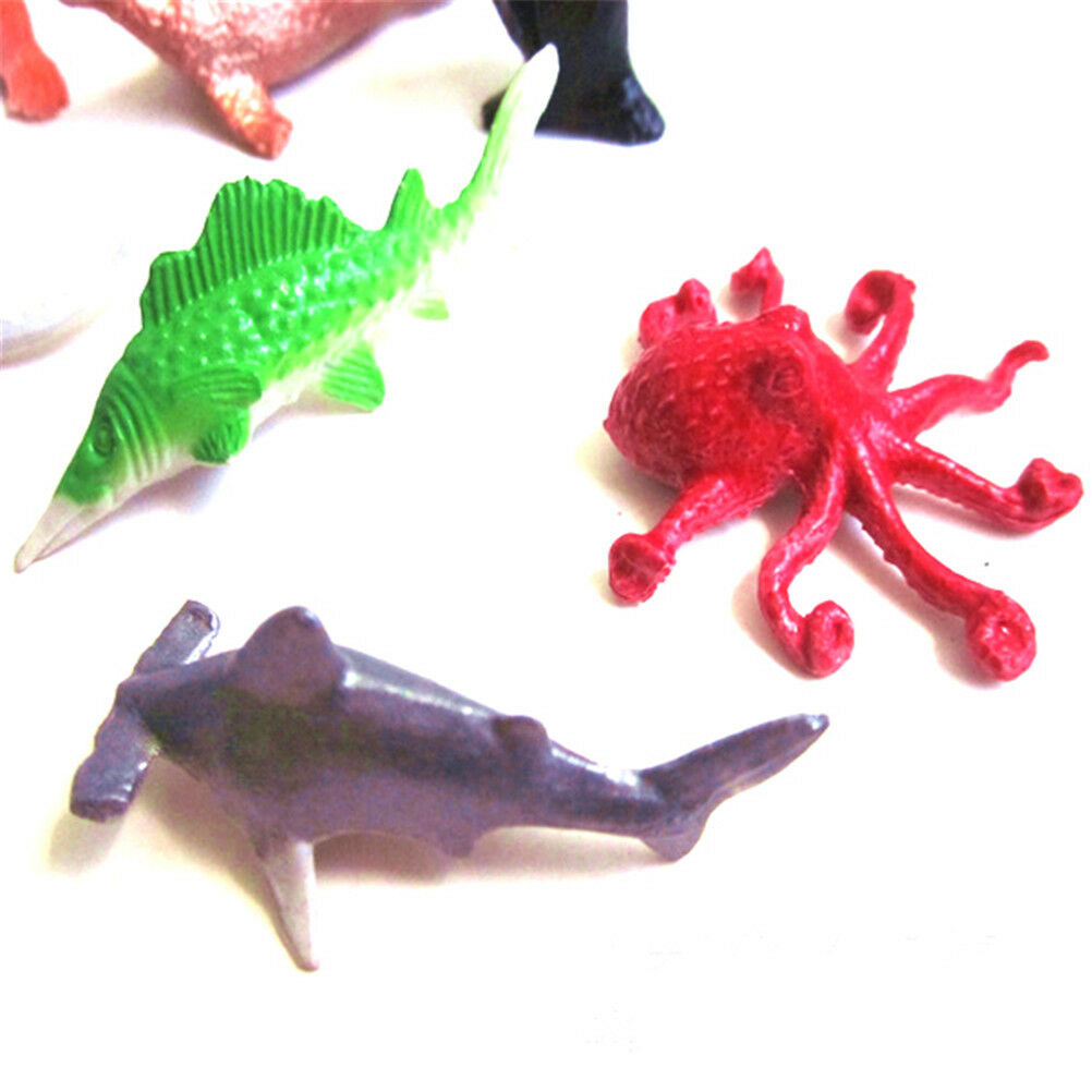 8X Marine Life Sea Animal Whale Shark Octopus Penguin Kids Dolphin Model Toy ZS