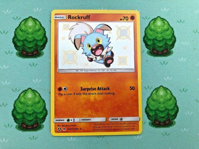 Holo Shiny Vault SM Hidden Fates Pokemon Rockruff SV23//SV94
