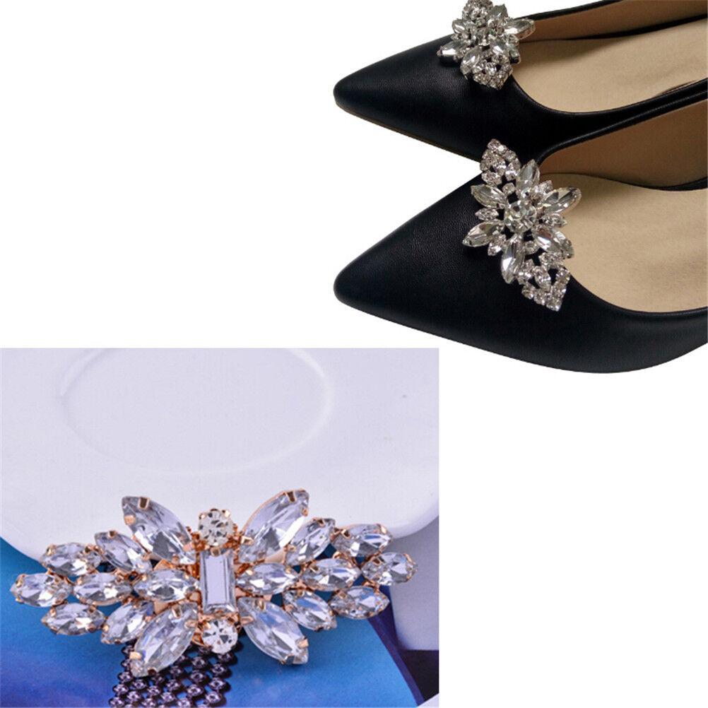 1PC Women Shoes Decoration Clips Crystal Shoes Buckle Bridal Wedding Decor DSUK