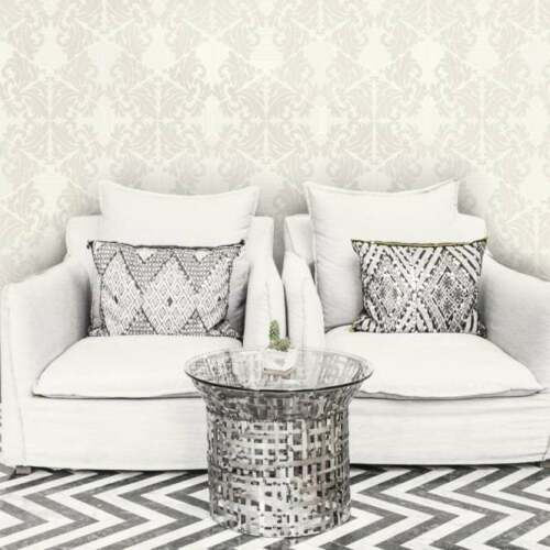 Holden Statement Zena Damask Pattern Wallpaper Stripe