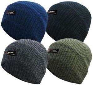 Modestil New Mens Boys R40 Rockjock Insulated Thermal Fleece Beanie Hat Bobby Winter Cold Mangelware
