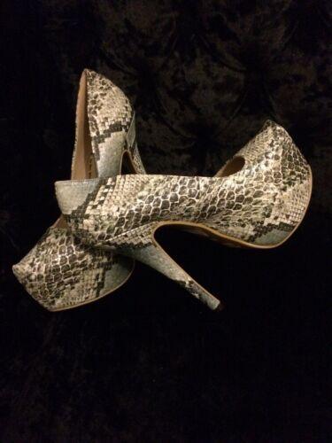 clair à 5 7 imprimé noir à pouces taille Chaussures la talons et 5 gris de ZqdnS7w
