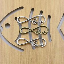 20-100Pcs Love Connector Antique Tibetan Silver Charm Infinity Pendant DIY