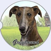 Greyhound Car Coaster Absorbent Keep Cup Holder Dry Stoneware Dogs Pets