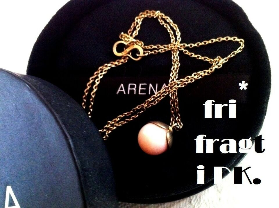 Halskæde, guld, forgyldt ARENA NADA forgyldt 925 med 14