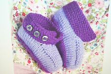 Baby Booties Shoe Slipper Knitting Pattern