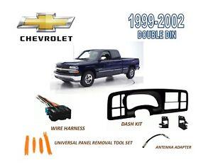 image is loading 1999-2002-chevrolet-silverado-double-din-dash-install-