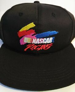 05f0f351dc039 NASCAR - Black Orginal Vintage Racing Snapback Hat - Made in the USA ...