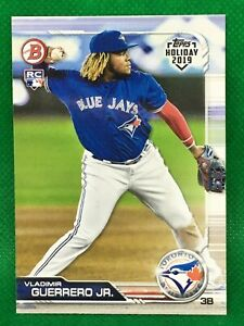 VLADIMIR-GUERRERO-JR-RC-2019-TOPPS-HOLIDAY-BOWMAN-ROOKIE-TH-VGJ-BLUE-JAYS