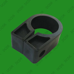 15x Black Heavy Duty Plastic Cable Cleats Clips, Number Size 13 30mm