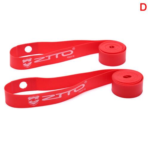 1Pair PVC Rim Tapes Strips for Mountain Bike Road Bicycle Folding Tire CushiALUK