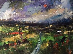 ORIGINAL-PAINTING-Acrylic-On-Canvas-Welsh-Farm-40x30cm