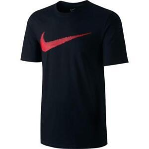 NWT Nike Men s Hangtag Swoosh T-Shirt 707456-010 Black Red  6739f4249d2f4
