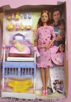 Pregnant Midge & Baby Barbie Doll Happy Family Pink Outfit Bump No Outer Box