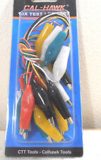 PC Test Lead Jumper Set Wires with Alligator Clips 5 Colors Coded 14-Inch Long