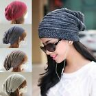 Women Mens Warm Winter Baggy Beanie Knit Crochet Ski Hat Oversized Slouch Cap