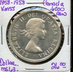 1858 1958 Canada Dollar 1 Silver Canadian Coin Fl978 Ebay