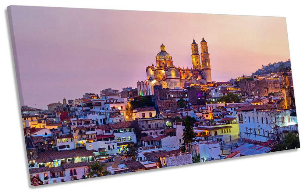 Taxco Stadt Mexico Skyline Bild PANORAMIC CANVAS Wand Kunst Drucken