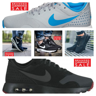 Men Shoes Nike Air Max Tavas SE Tufts Series Small Version Zoom All match Jogging Shoes Navy Blue 705149 305 Top Deals