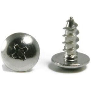 Oval Head Sheet Metal Screw 316 Stainless Steel #10 x 1 Qty 1000