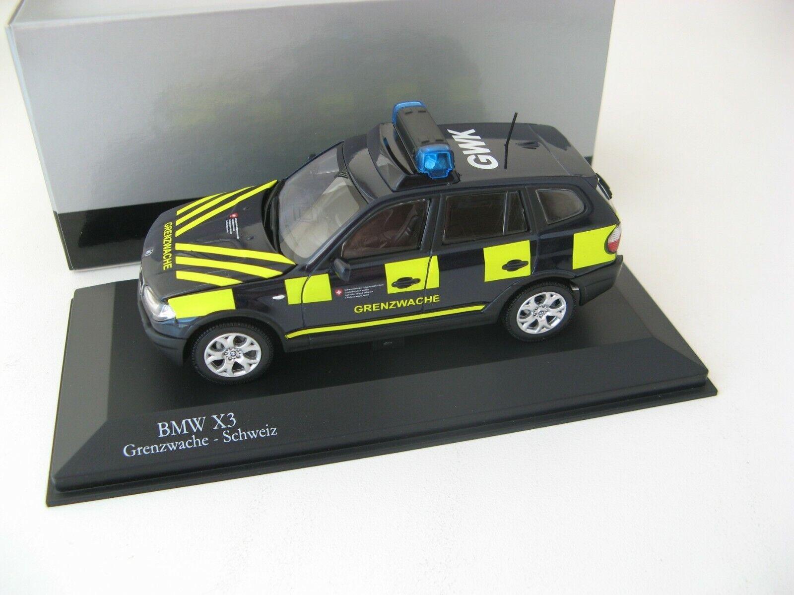 BMW X3 Grenzwache-Schweiz 2003 (German version) 1 43 KYOSHO